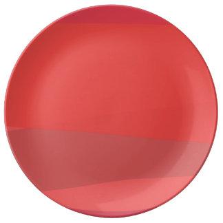 Pink and Orange Minimalism Porcelain Plates