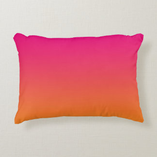 """""""Pink And Orange Ombre"""" Accent Pillow"""