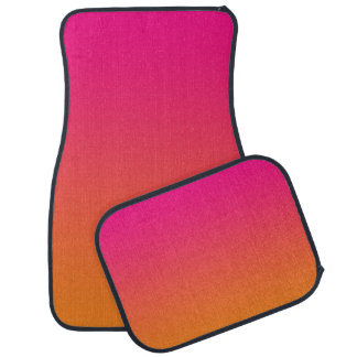 """""""Pink And Orange Ombre"""" Car Mat"""