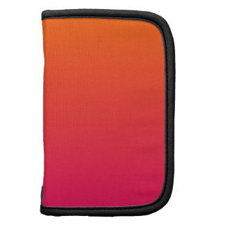 Pink and Orange Ombre Folio Planner