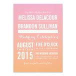Pink and Orange Ombre Gradient Wedding Invitations