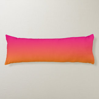 """Pink And Orange Ombre"" Body Pillow"