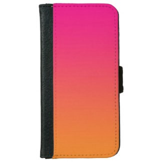 """Pink And Orange Ombre"" Wallet Phone Case For iPhone 6/6s"