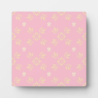Pink and Orange Ornamental Pattern Plaque