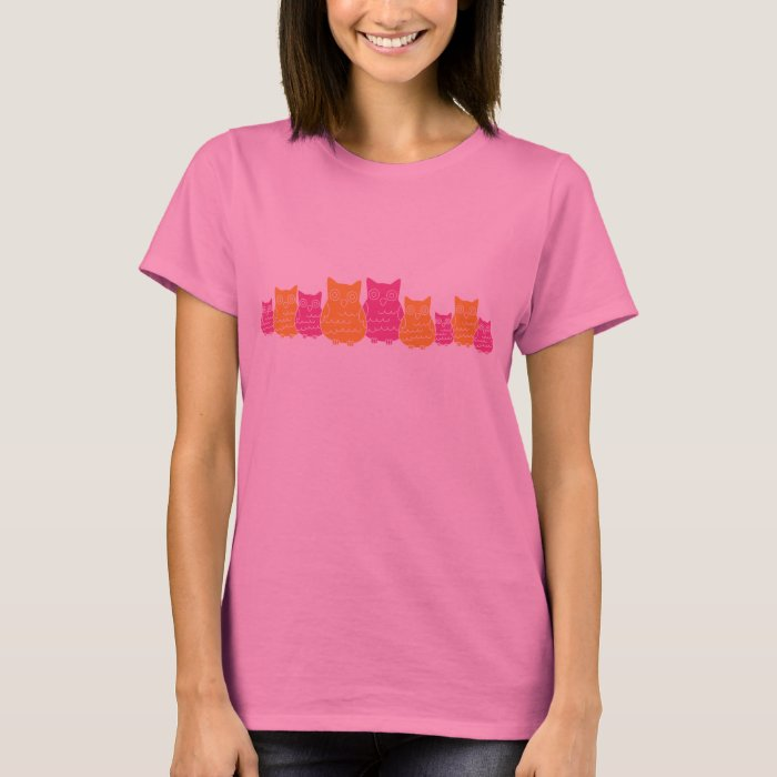 Pink and Orange Owls T-Shirt