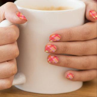 Pink and orange plaid minx® nail wraps