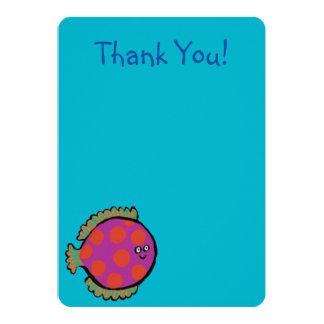 Pink and Orange Polka-Dot Fish Card