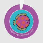Pink and Orange Polka-Dot Fish Ornament