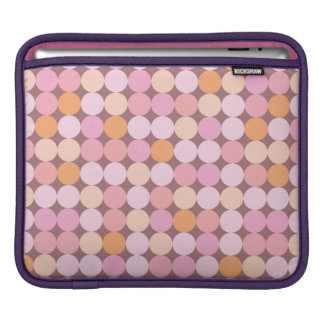 Pink and Orange Polka Dots Sleeve For iPads