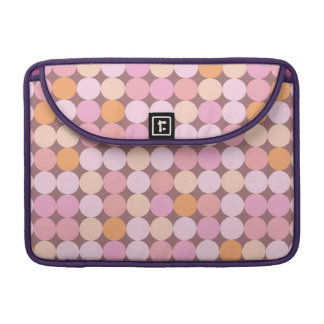 Pink and Orange Polka Dots Sleeve For MacBook Pro