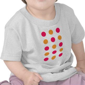 Pink and Orange Polka Dots T-shirts