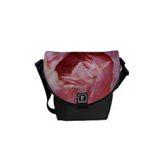 Pink And Orange Rose Mini Messenger Bag