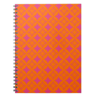 Pink and orange shippo spiral notebook