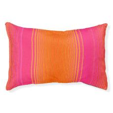 Pink and Orange Striped Pattern Pet Bed