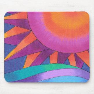 Pink and Orange Sun Mousepad