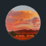 """Pink and Orange Sunset with Cattle Candy Tin<br><div class=""""desc"""">This image is from the painting called &quot;Pleasant Twilight&quot; by Carol Zirkle. Oh,  the Golden Hour!! It gives the most pleasant evening in rural Montana an extra special glow!! Whew,  just LOVE it!!</div>"""