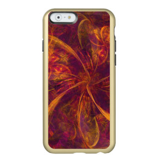 Pink and Orange Swirling Bow Abstract Incipio Feather® Shine iPhone 6 Case