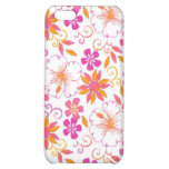 Pink and Orange Tropical Flower Pern Case For iPhone 5C
