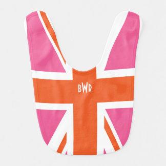 Pink and Orange Union Flag Bib