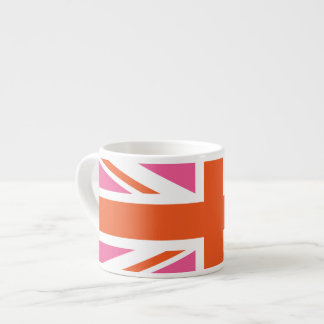 Pink and Orange Union Flag Espresso Cup