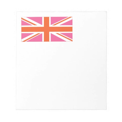 Pink and Orange Union Flag Scratch Pads