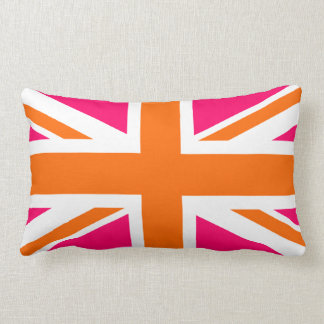 Pink and Orange Union Jack Pillows