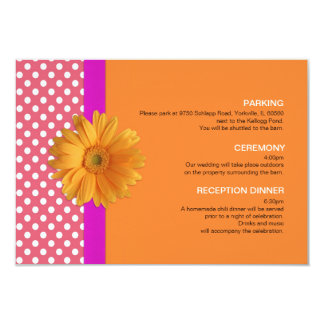 Pink and Orange with Daisy Enclosure Card
