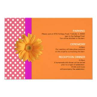 Pink and Orange with Daisy Enclosure Card Announcements