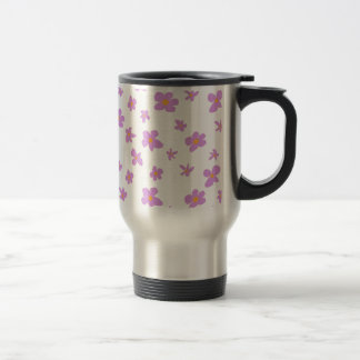 Pink and Pale Yellow Flowers Travel Mug