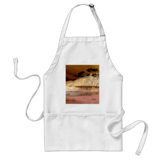 Pink and Peach Abstract Fantasy World Adult Apron