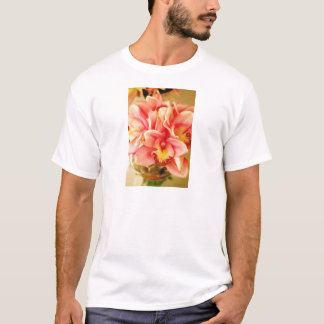 Pink and Peach Orchid Photo T-Shirt