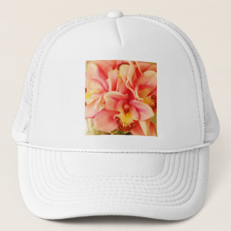 Pink and Peach Orchid Photo Trucker Hat