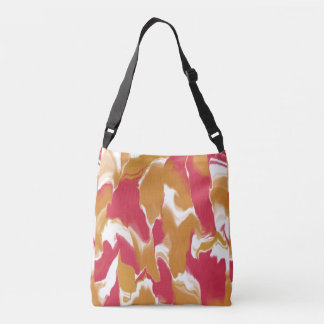 Pink and Peachy Swirl Crossbody Bag