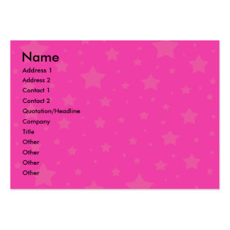 Pink and pink stars large business cards (Pack of 100)