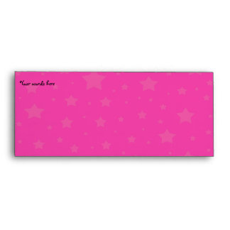 Pink and pink stars envelope