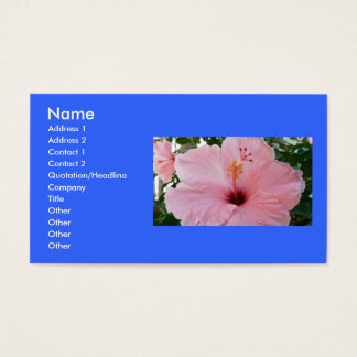 Pink and Pretty Business Card
