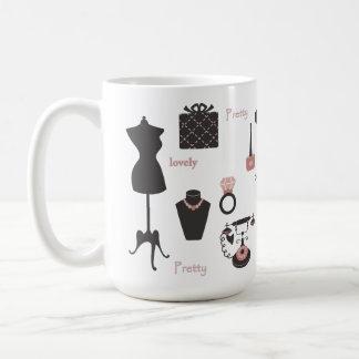 Pink and pretty coffee mugs
