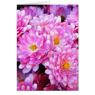 """""""Pink and Pretty Mums"""" Greeting Card"""
