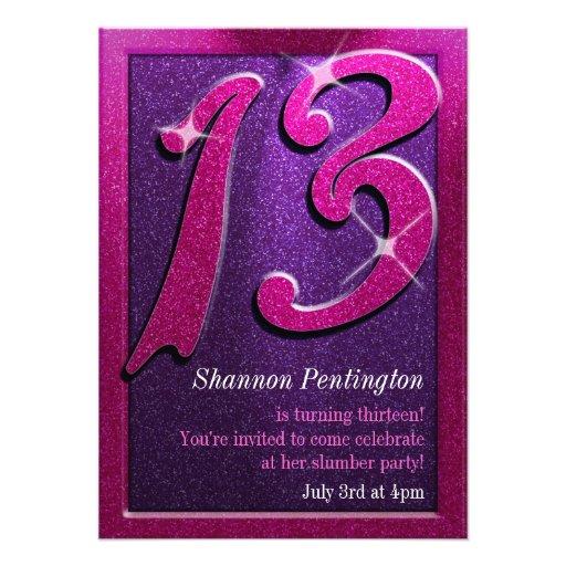 Personalized Thirteenth birthday party Invitations – 13 Birthday Party Invitations