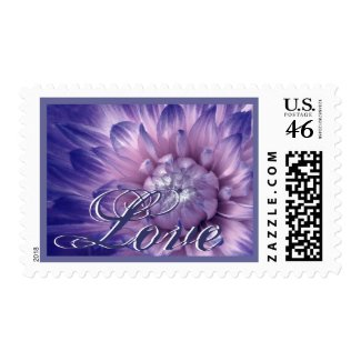 PINK and PURPLE - A Burst of Love Dahlia Wedding stamp