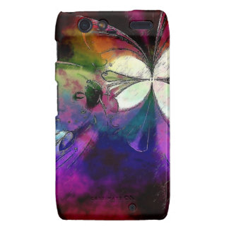 Pink And Purple Abstract Butterfly Droid RAZR Covers