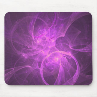 Pink and Purple Abstract fractal with Circles Mouse Pad