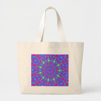 Pink and Purple Abstract Tribal Canvas Bag