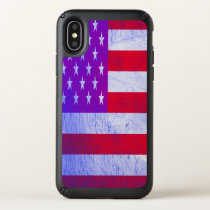 Pink and Purple American flag Speck iPhone X Case