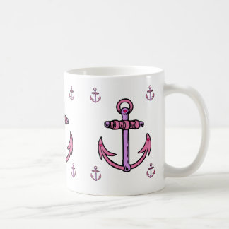 Pink and Purple Anchors Coffee Mug