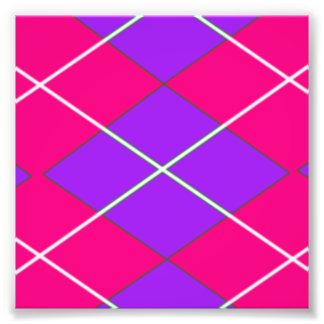 Pink and Purple Argyle Pattern Photo