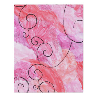 pink and purple background with black accent faux canvas print