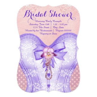 Pink and Purple Bridal Shower Card