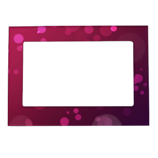 Pink and Purple Bubbles Picture Frame Magnet