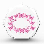 Pink and Purple Butterflies Acrylic Award